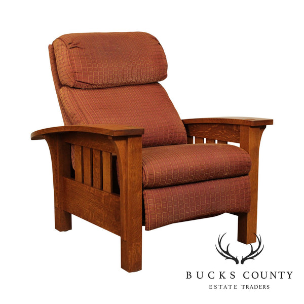 Stickley Mission Collection Oak Bow Arm Morris Recliner