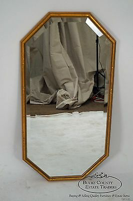 Transart Industries Hollywood Regency Gilt Faux Bamboo Hanging Wall Mirror