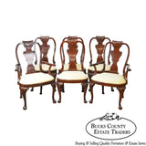 Baker Historic Charleston Collection Set of 6 Mahogany Queen Anne Dining Chairs