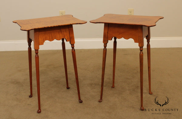 River Bend LTD. Tiger Maple Pair Side Tables