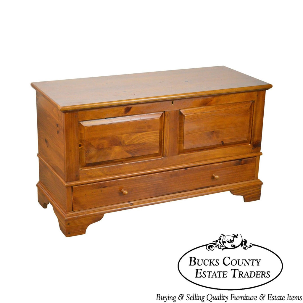 Marvelous Ethan Allen Country Craftsman Solid Pine Lidded Blanket Gmtry Best Dining Table And Chair Ideas Images Gmtryco