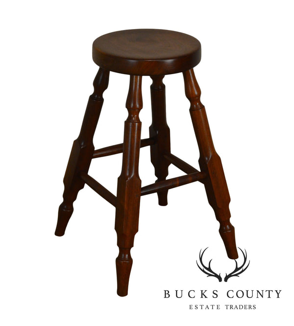 Wynnewood Woodworks Hand Crafted Solid Walnut Bar Stool