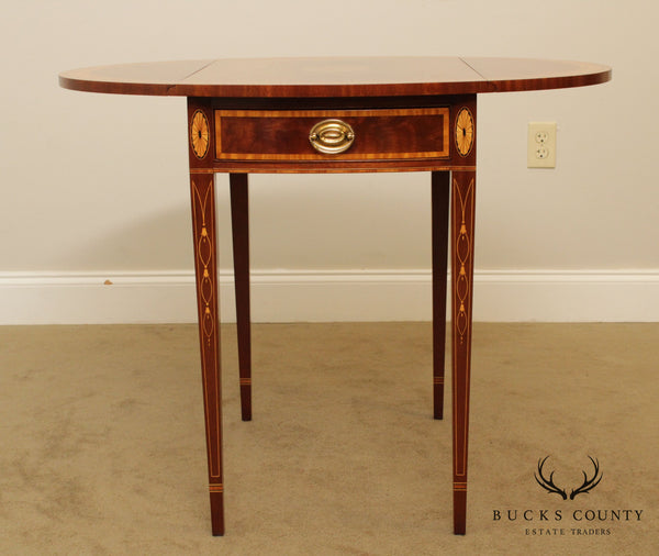 Stickley Hepplewhite Style Mahogany Drop Leaf Pembroke Table