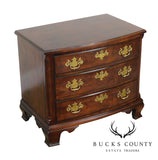Henredon Salem Collection Dark Cherry Bow Front Chest Nightstand
