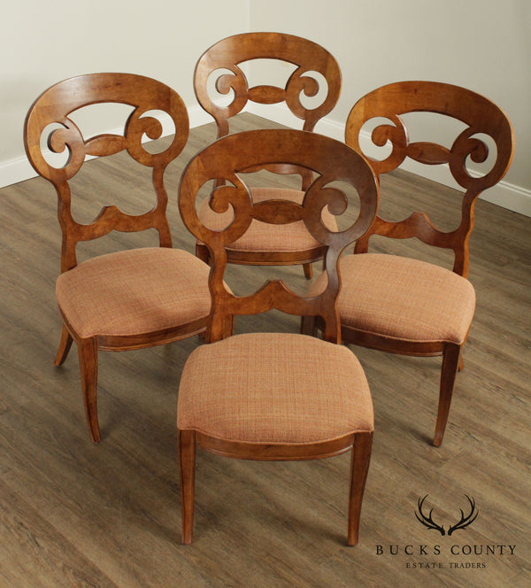 Century Furniture Biedermeier Style Set 4 Dining Chairs