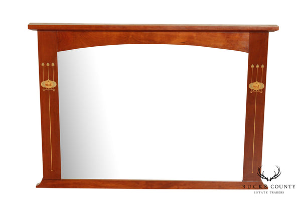 Stickley Mission Collection Cherry Harvey Ellis Inlaid Wall Mirror