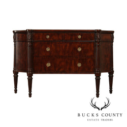 LLoyd Buxton Regency Style Mahogany Curved Side Sideboard