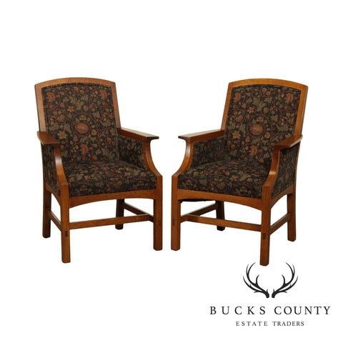 Stickley Mission Collection Pair Armchairs