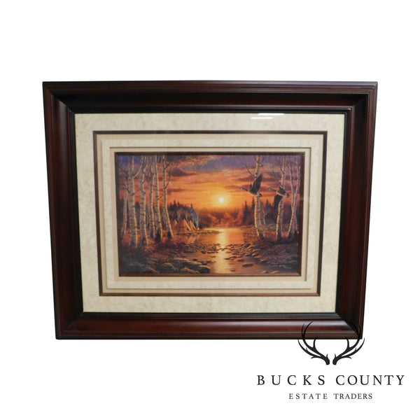 """Evening Flight"" Framed Print by Frank D. Miller"