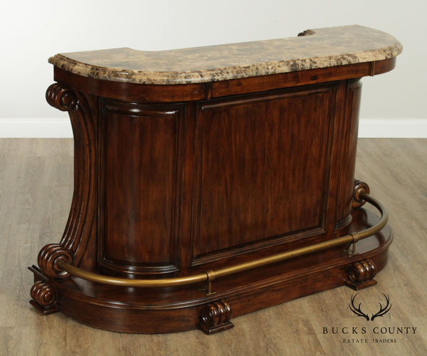 Quality Empire Style Mahogany Marble Top Bar by Forbidden City