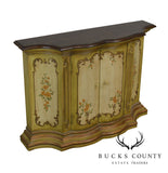 Drexel ET Cetera Vintage Paint Decorated Narrow Console Cabinet