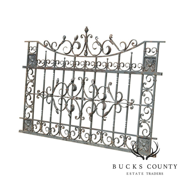 Quality Vintage Ornate Wrought Iron 8'x5' Fence/Gate Section (B)