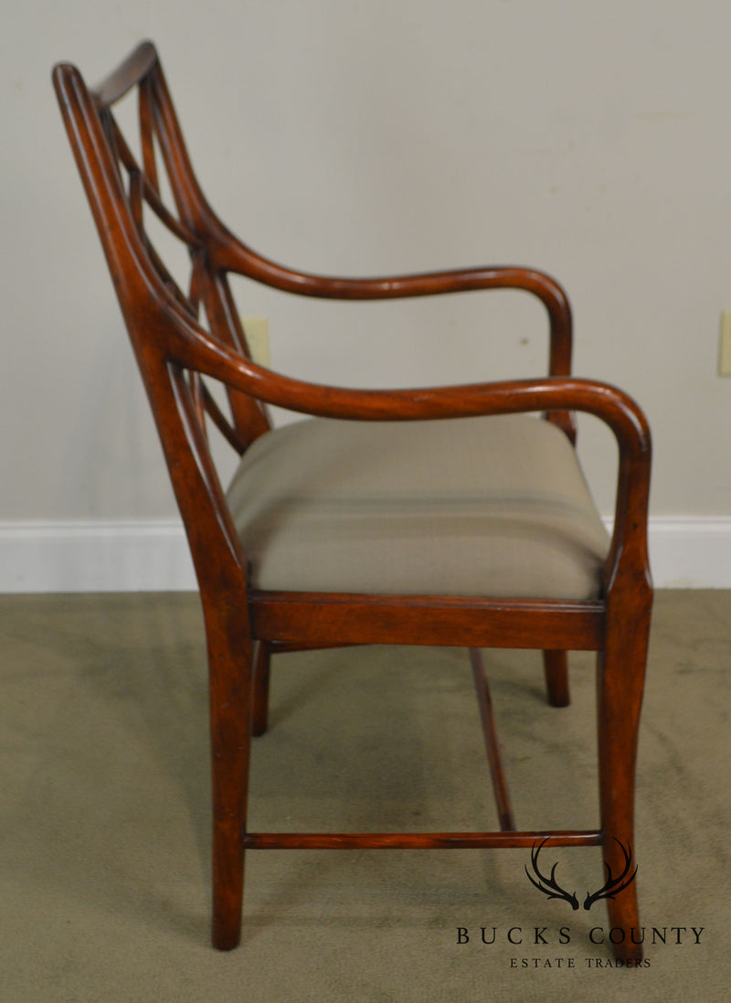 Theodore Alexander Mahogany Chinese Whispers George III Chippendale Armchair