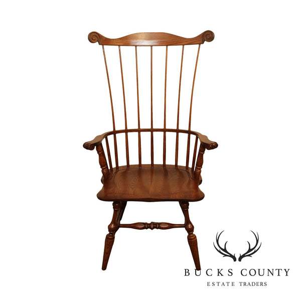 Hitchcock Oak Comb-Back Windsor Chair