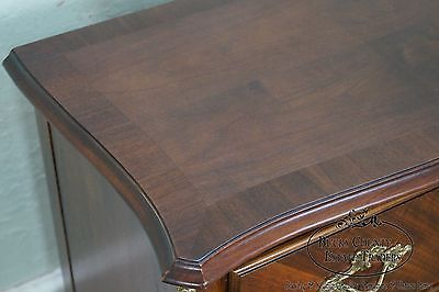 Baker French Louis XV Style Bronze Mounted 2 Drawer Commode Chest