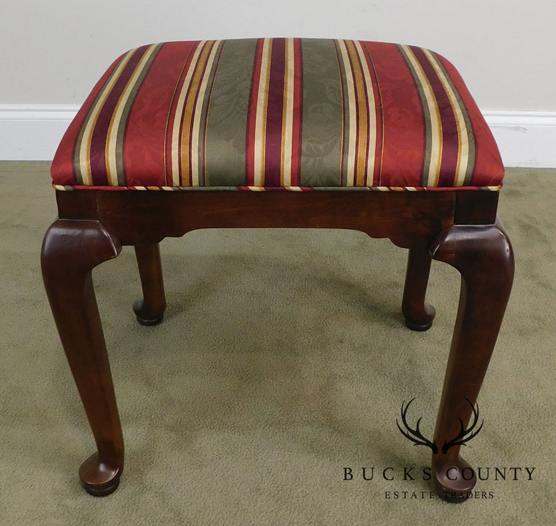 Ethan Allen Traditional Queen Anne Style Pair Benches or Stools