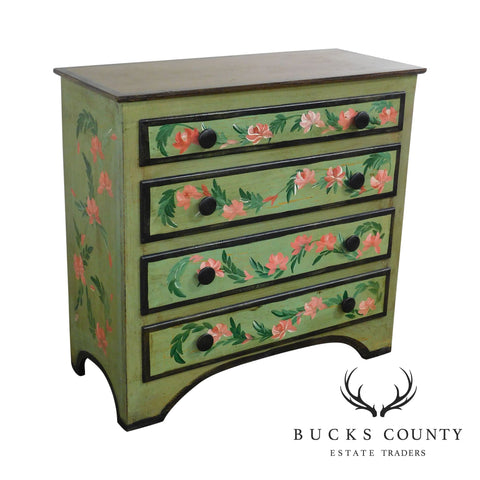 Custom Painted Cottage Style 4 Drawer Chest, Dresser
