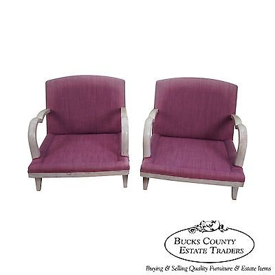 Unusual Pair of Hollywood Regency Oversized Lounge Chair Frames