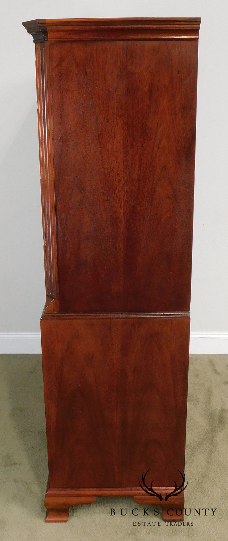 Baker Chippendale Style Mahogany Chest on Chest