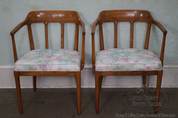 Tomlinson Mid Century Modern Pair of Walnut Arm Chairs