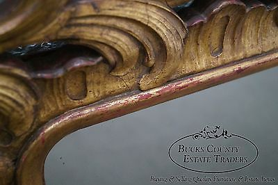 Vintage French Louis XV Style Gold Gilt Carved Wood Frame Mirror