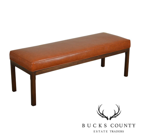 Mid Century Modern Walnut Long Bench