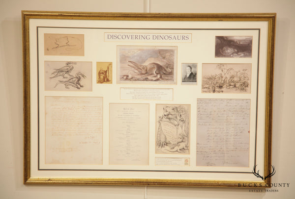 """Discovering Dinosaurs"" Framed Replicas of Materials From the Archives of The Natural History Museum London"