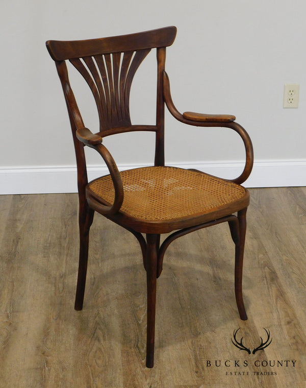 J & J Kohn Austria Antique Art Nouveau Armchair