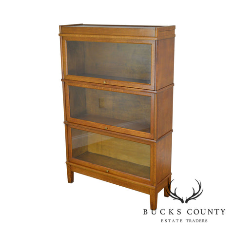 Antique 3 Stack Oak Barrister Bookcase
