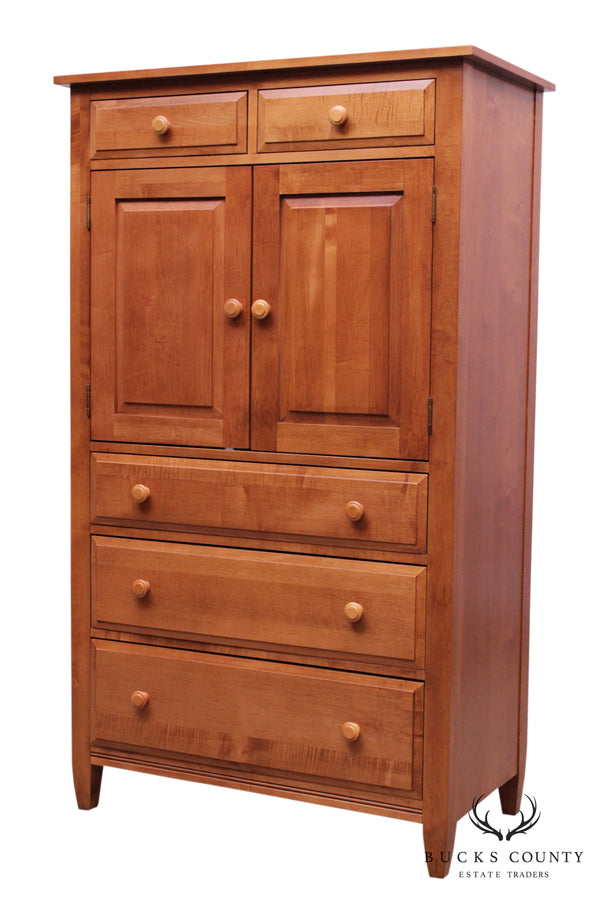 Ethan Allen Country Colors Maple Gentlemen's High Chest