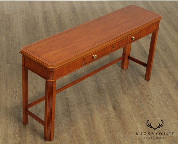 Drexel Heritage Yew Wood 56 inch Sofa Table, Console
