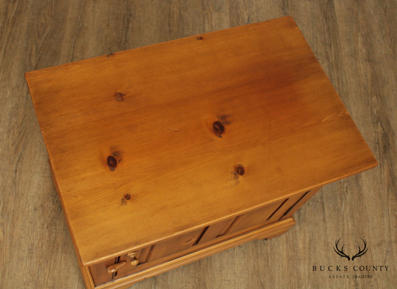 William Draper Hand Crafted Country Pine One Door Cabinet Side Table