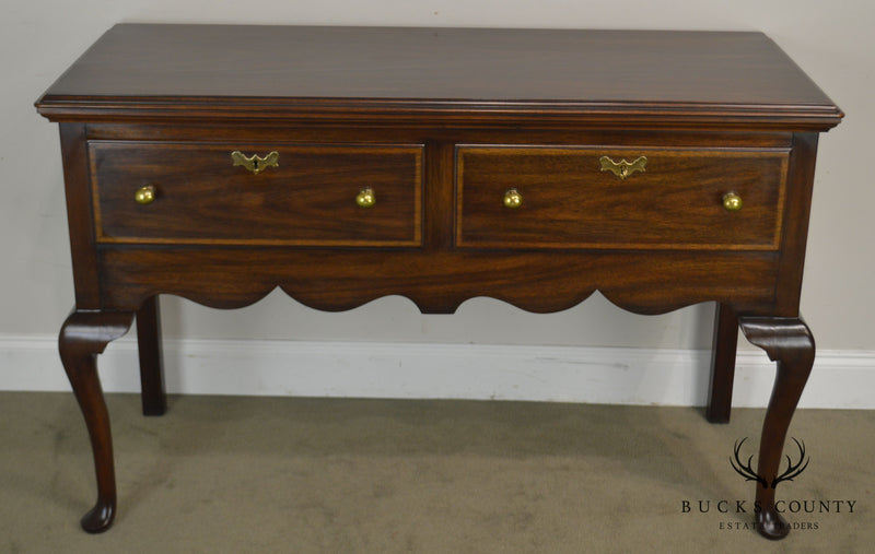 Henkel Harris Mahogany Jamestown Colony Queen Anne 2 Drawer Server Sideboard