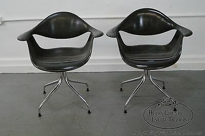 Herman Miller George Nelson Set of 6 Rare DAF Swag Leg Arm Chairs