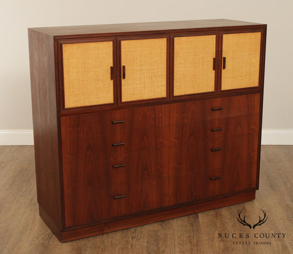 Arne Vodder for Vamo Teak Cane Door Gentlemans, Chest, Dresser