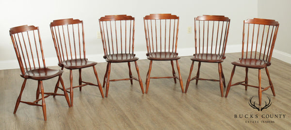 D. R. Dimes Traditional Set 6 Windsor Dining Chairs