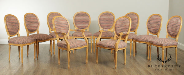 French Louis XVI Style Custom Set 10 Dining Chairs