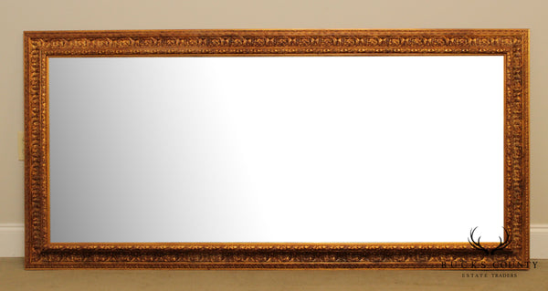 Large Gilt Wood Frame Beveled Wall Mirror