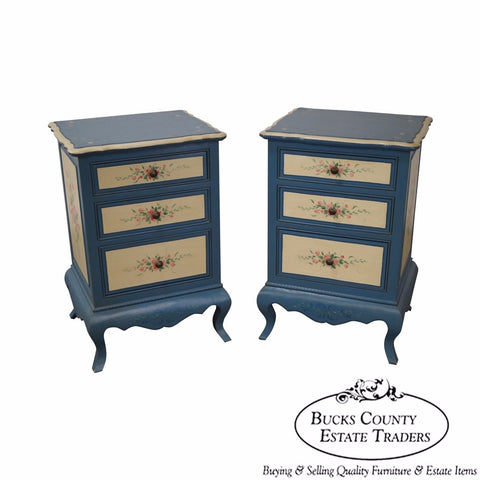 Brighton Pavilion Pair of Hand Painted 3 Drawer Chests by Jane Keltner