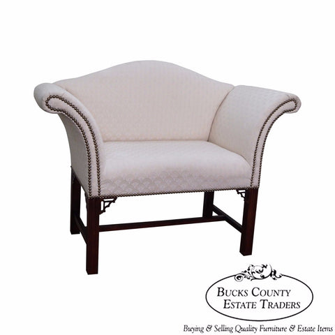 Quality Chippendale Style Small Settee Bench