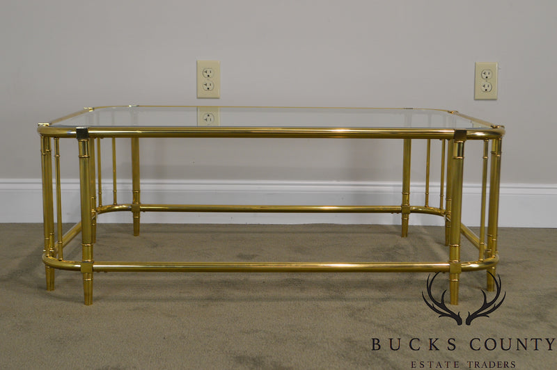 Mastercraft Brass & Glass Coffee or Cocktail Table
