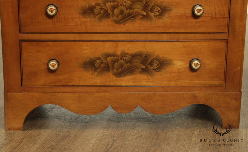 Hitchcock Vintage Stenciled Maple Chest of Drawers (A)