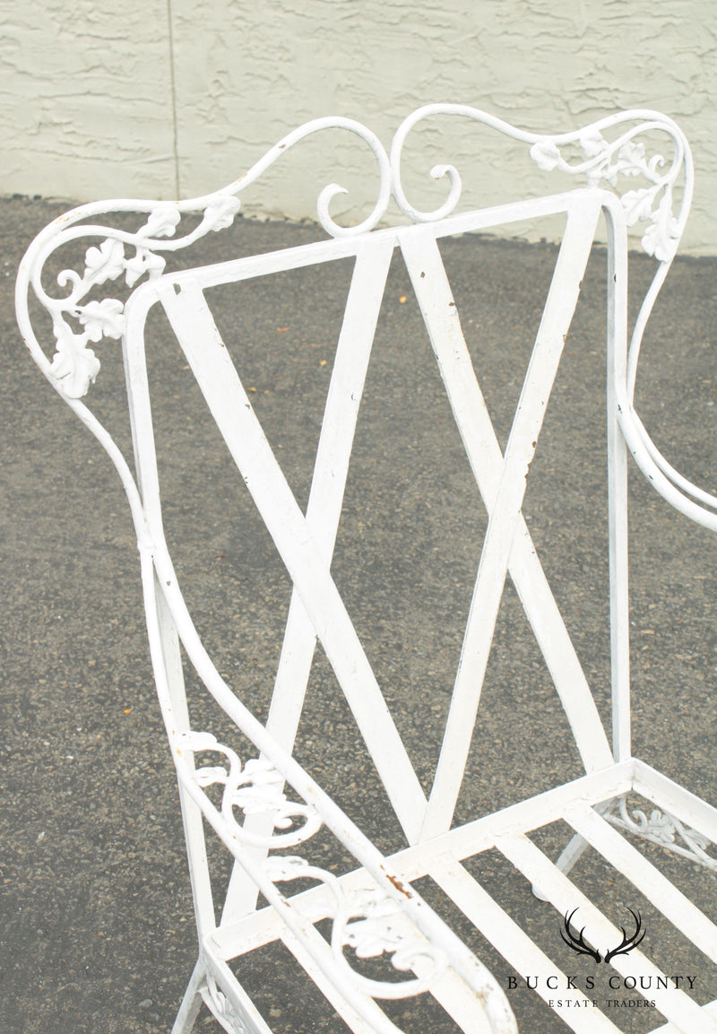 Woodard Vintage Pair Wrought Iron Garden, Patio Armchairs
