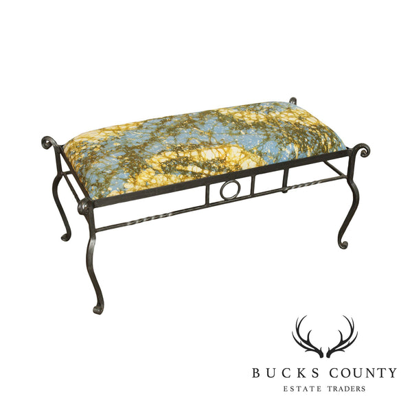 Vintage Quality Forged Iron Window Bench
