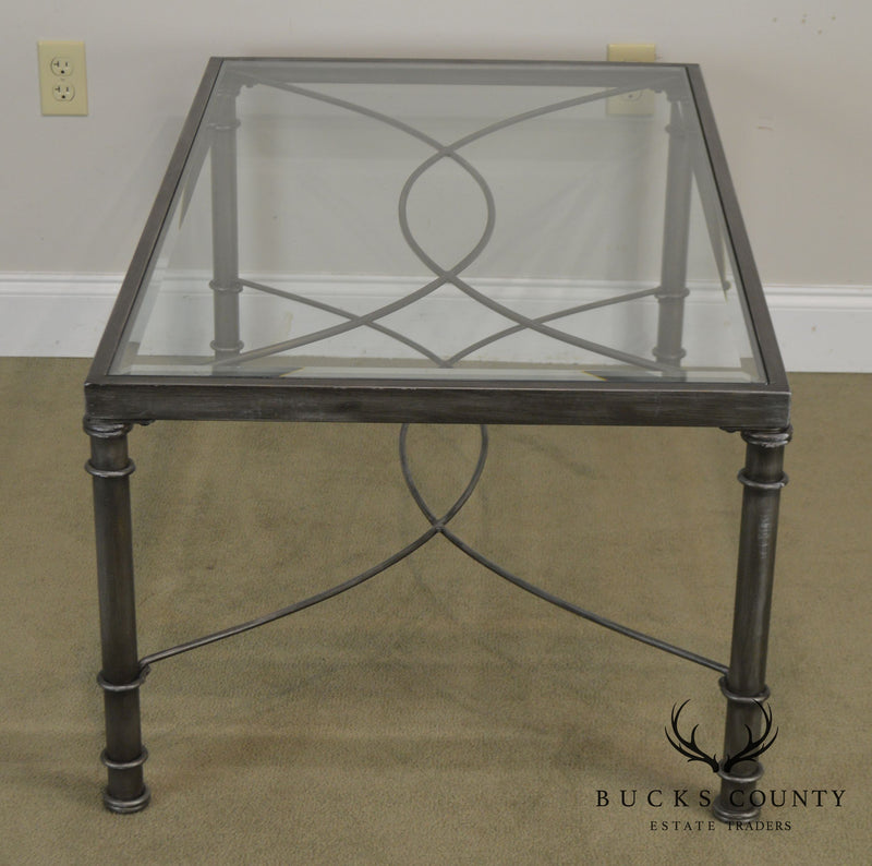 Regency Style Wrought Iron Glass Top
