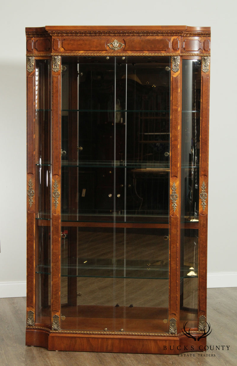 Henredon Grand Provenance Collection French Louis XVI Style Tall Curio Display Cabinet