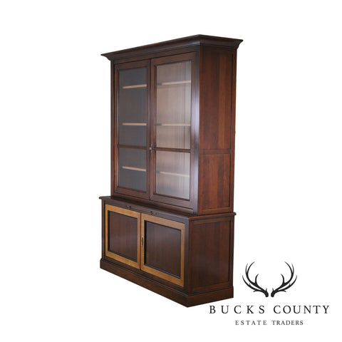 Grange French Cherry Louis Philippe Style Bookcase Cabinet