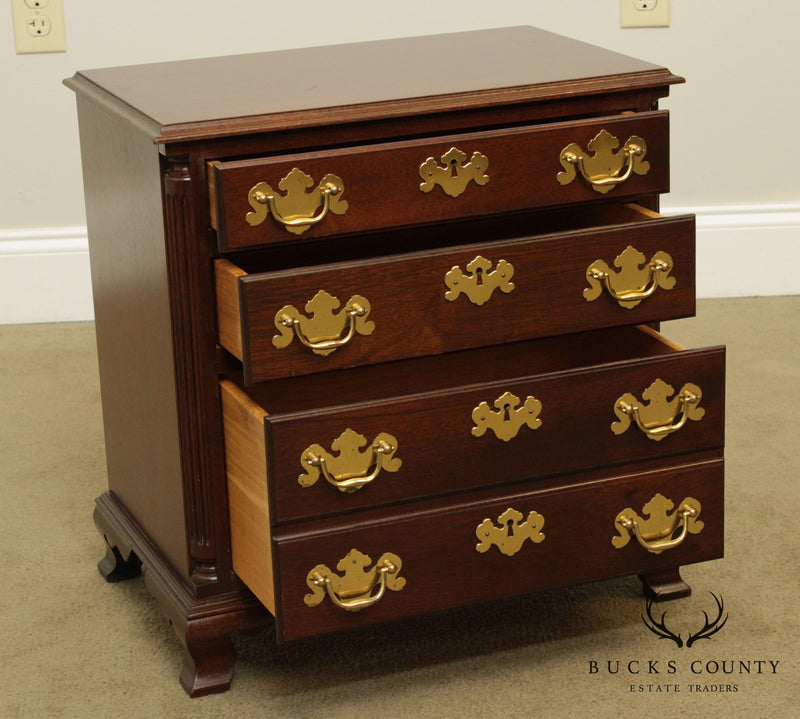 Chippendale Style Small Mahogany Accent Chest of Drawers, Nightstand