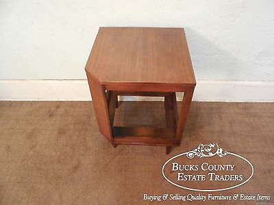 American of Martinsville Mid Century Walnut Corner Piece Dania Collection