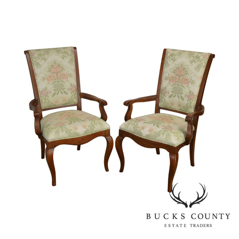 Ethan Allen French Country Style Pair Armchairs